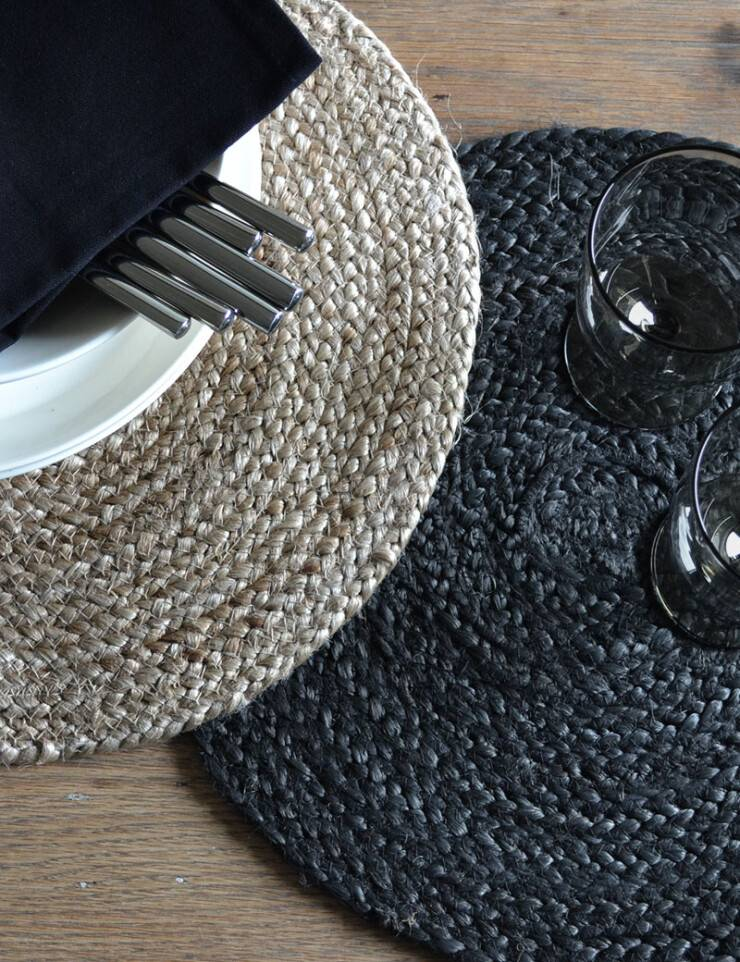 Sets de table rond jute