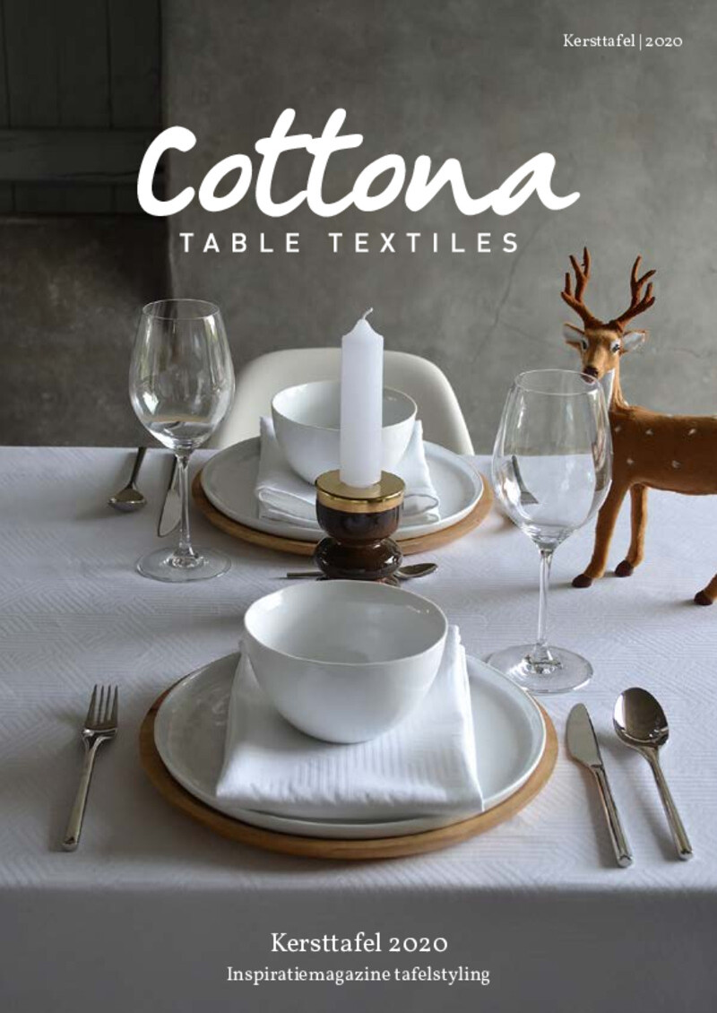 Cottona Kersttafel Magazine 2020 BE